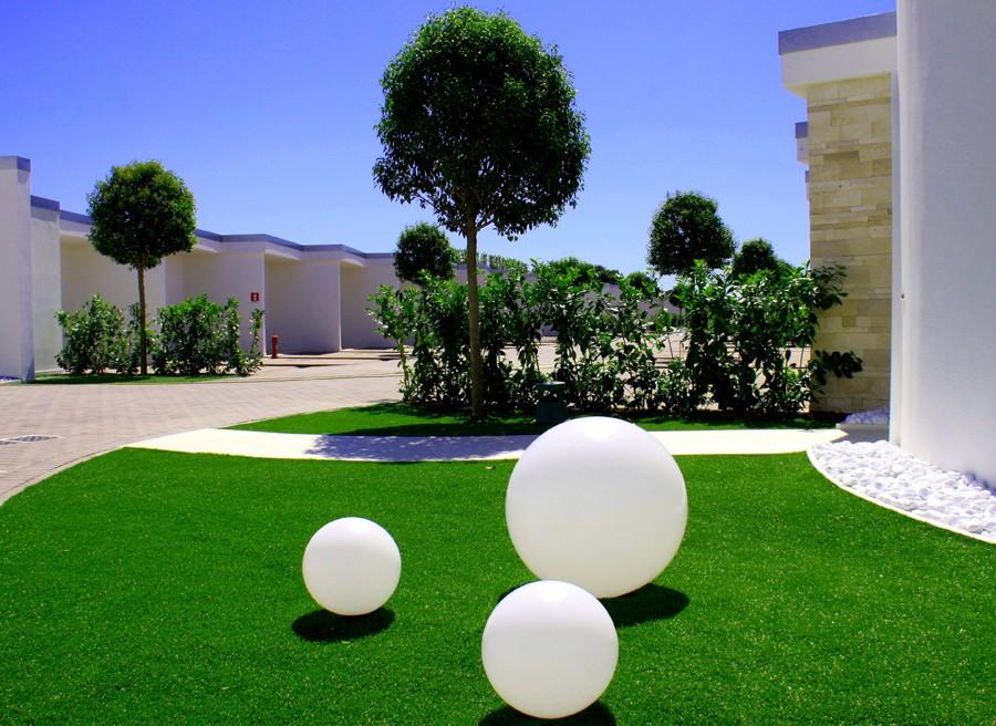 Sfera luminosa da giardino e locali illuminabile design a corrente