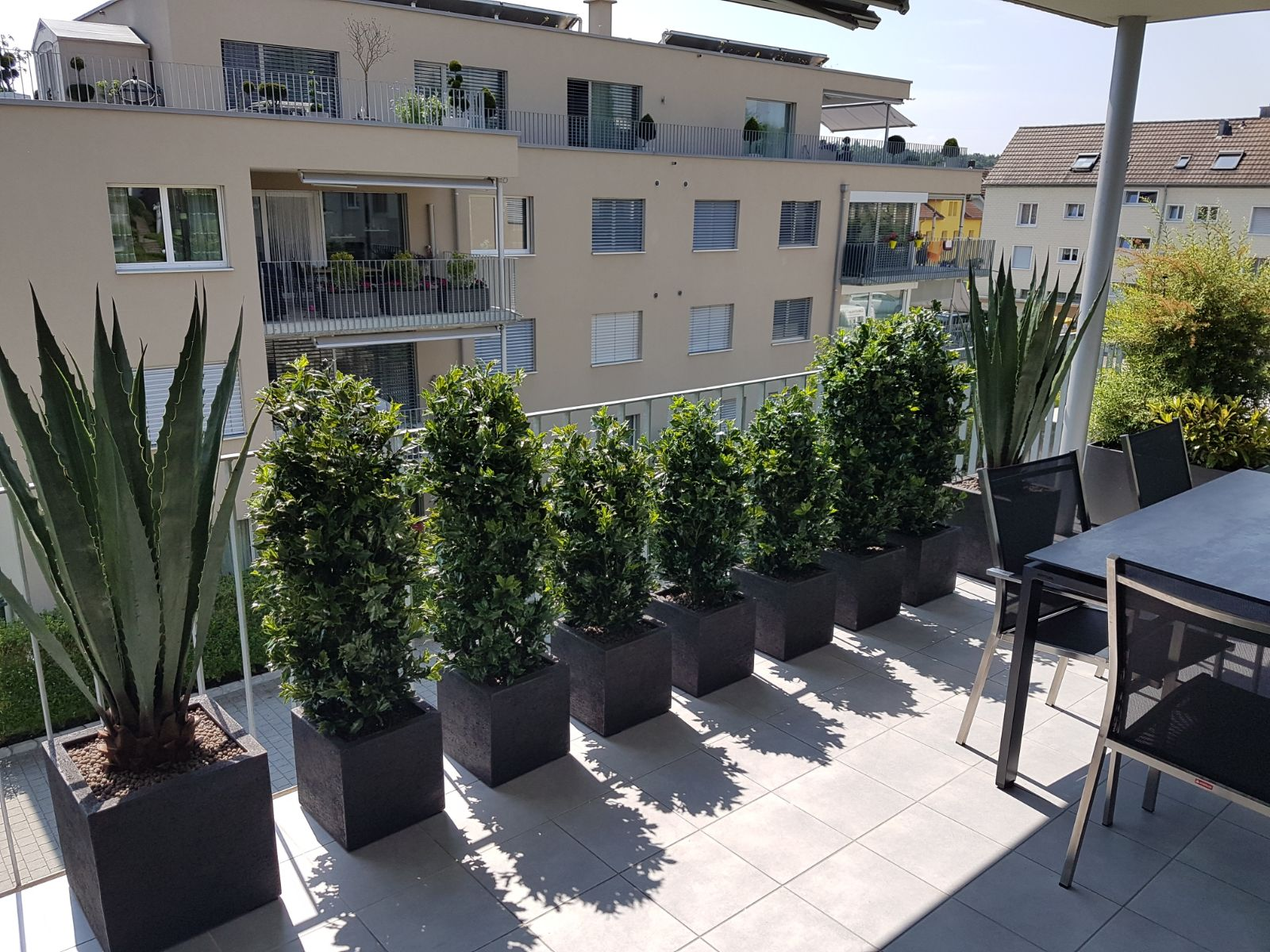 wetterfeste kunstpflanzen f r den ganzj hrigen aussenbereich dekohaus. Black Bedroom Furniture Sets. Home Design Ideas