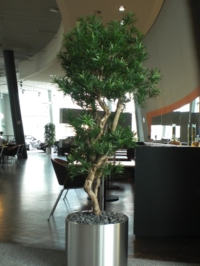Künstlicher Baum als Raumbegrünug in einem Büro