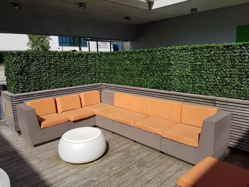 buchs kunsthecken dekohaus innenbegr nung und aussenbegr nung mit exklusiven kunstpflanzen. Black Bedroom Furniture Sets. Home Design Ideas