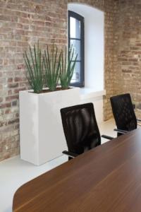 Raumteiler mit Pflanzen in Büro.
