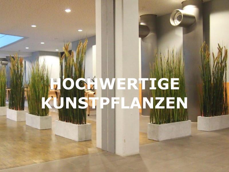 Grosse Auswahl an hochwertigen Kunstpflanzen für den Innenbereich.
