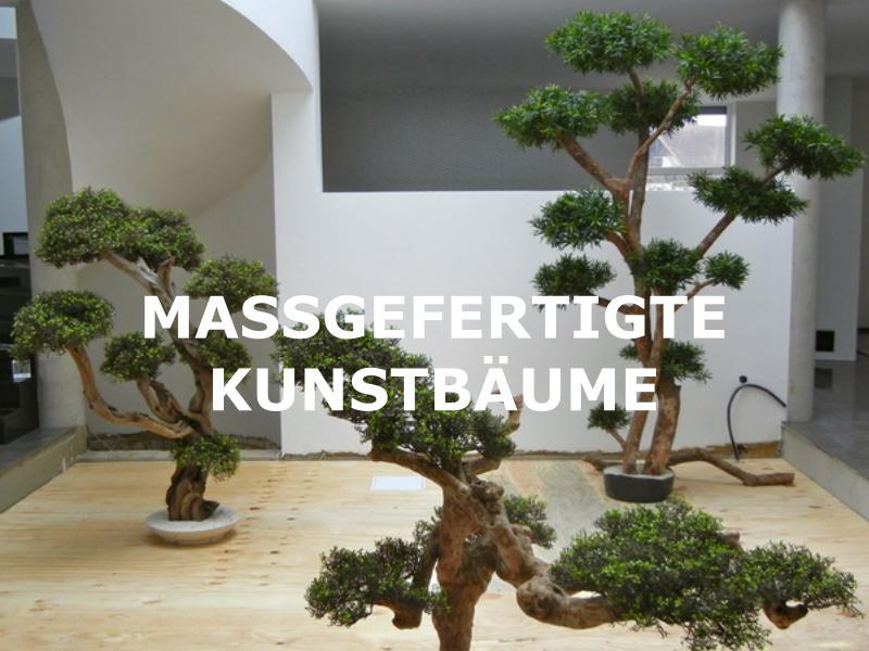 Hochwertige Kunstbäume nach Mass gefertigt.