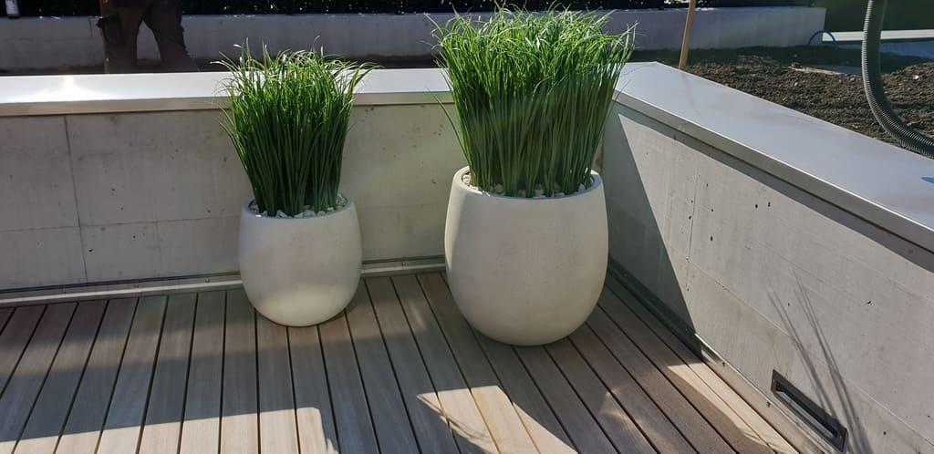 Wetterfeste Kunstgräser Outdoor auf Terrasse